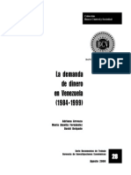 Demanda de Dinero en Venezuela (1984-1999)