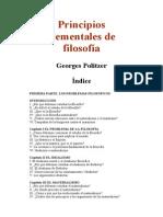 Principios Elementales de Filosofía - Georges Politzer.doc