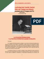 Hoxha - Informe Ante El V Congreso Del PTA (1966)