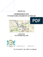 SIG PC CHO Manual Georeferenciar Un Mapa Escaneado en AutoCAD