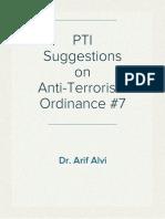 PTI Suggestions on Anti-Terrorism Ordinance #7