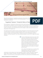 TOPONYM of YOGYAKARTA - Tracing the History of Kampongs Naming