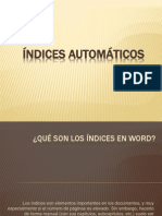 ÍNDICES AUTOMÁTICOS