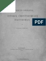 VASILE PIRVAN Istoria Crestinismului Daco - Romin