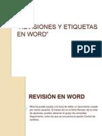 Revisiones y Etiquetas en Word