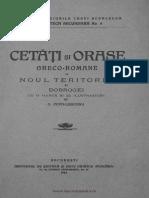 POPA LISEANU Cetati Si Orase Greco - Romane