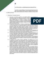 7- Propuestas Para Fortalecer La Gobernabilidad Democratica - 01 Julio 2005