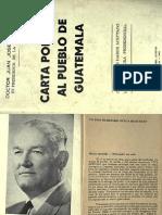 Carta Politica Al Pueblo de Guatemala - 1963