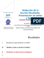 17 Redaccion de La Seccion Resultados. Presentacion de Las Tablas Graficos y Figuras.