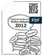 NUS National conference Policy Book 2012