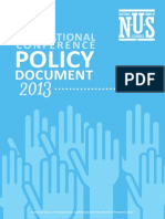 NUS National Conference Policy Book 2013