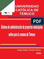 Tesis Sistema de Administracion de Proyectos Municipales