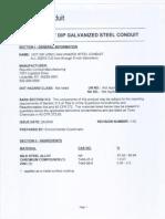 Hot-Dip Galvanizing Material Safety Data Sheet