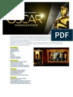 Más avances 2 - Oscar 2014 (Nominados), Ganadores Globos de Oro, estrenos y series