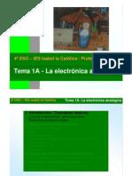 Tema 1A La Electronica Analogica EXPLICACION