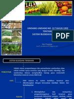UU No. 12 Tahun 1992 - Sistem Budidaya Tanaman_2014_ok