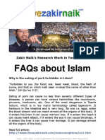 Why is the eating of pork forbidden in Islam?