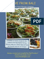 A RAW FOOD RECIPE SAMPLER