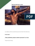 LAS SIETE PALABRAS DE JESÚS EN LA CRUZ