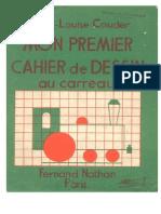 Mon Premier Cahier de Dessin Au Carreau - Marie Louise Couder - Ed Fernand Nathan - Paris