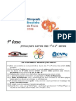 OBF2008 1Fase 1&2serie Prova