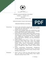 UU No. 11 Tahun 2012 Ttg Sistem Peradilan Pidana Anak