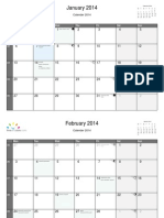 English Monthly Calender 2014