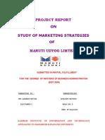 Maruti Udyog Limted Study of Marketing Strategies