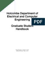clemsone university Grad Student Handbook 2012