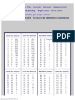 Códigos ASCII - Tabla de caracteres y simbolos ascii