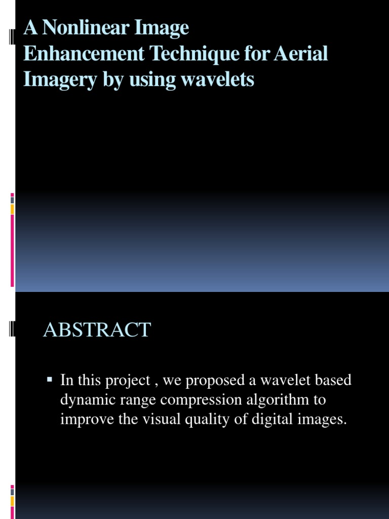 An Automatic Wavelet-Based Nonlinear Image | Image Editing