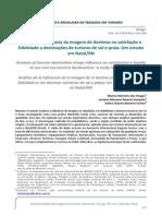 Análise da influência da imagem na satisfação e fidelidade - Chagas, Sampaio e Santos