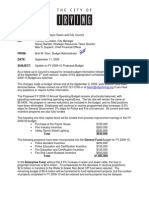 Irving 2009-10 Budget Revisions Memo