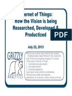 SAMPLE from Grizzly Analytics report on Internet of Things
