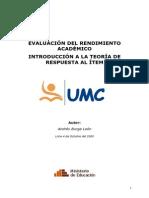 Evaluacion Del Rendimiento Academico - Introduccion a La Teoria de Respuestas