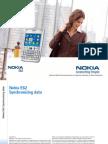 Nokia E62 Synchronizing data en 1