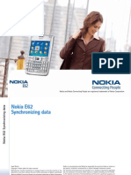 Nokia E62 Synchronizing data en 1