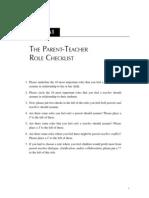 15621 a1   the parent teacher role checklist