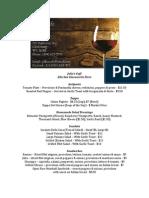 Julio's Café (Edit) - Lunch Menu (Spring 2014)