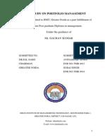 Study on Portfolio Management theory