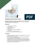 Strawberry-Chocolate Ice Cream