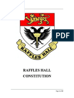 Proposed Raffles Hall Constitution for AY1314