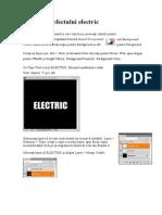 Obținerea efectului electric