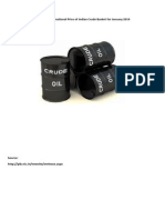 Crude Oil Price of Indian Basket for January 2014