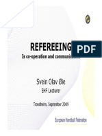 Refereeing is Cooperation and Communication
