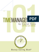 Time Management 101 Printable