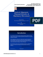 Optical Alignment, Thermal Growth and Machinery Movement