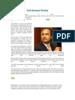 Anil Ambani Profile