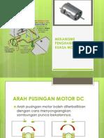 Mekanisme Penghantaran Kuasa Motor Dc