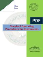 Standard Operating Procedures for Instruments 2012